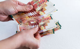 二百锡克尔钞票 免版税库存照片