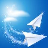 二纸飞机 免版税库存照片