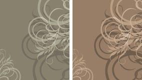 二装饰时髦的背景 向量例证