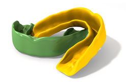 分泌树液卫兵绿色和金子透视 免版税库存图片