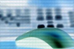 二进制代码关键董事会鼠标techno 库存图片