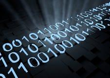 二进制代码发光 图库摄影