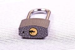 二进制代码挂锁 库存图片