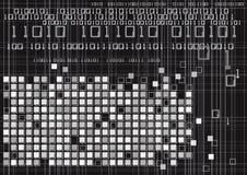 二进制代码数字技术 皇族释放例证