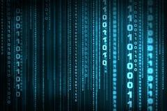 二进制代码矩阵 免版税库存图片