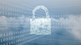 二进制代码系统的数字锁 库存例证
