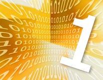 二进制代码纹理 免版税库存照片