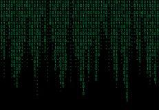 二进制代码计算机 与数字1的矩阵背景 向量例证