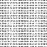 二进制代码 二进制数据的视觉表示法 大数据概念 向量 皇族释放例证