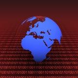 二进制地球 免版税图库摄影