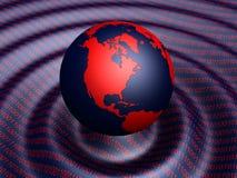 二进制地球 免版税库存图片