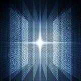 二进制抽象背景 免版税库存照片