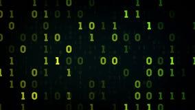 二进制数据调遣黑色 向量例证