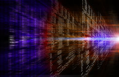 二进制红色和紫色计算机编码 图库摄影