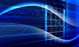 二进制编码在服务器3D翻译里面的数据流 向量例证