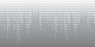 二进制编码落的灰色背景 皇族释放例证