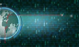 二进制编码计算机矩阵背景艺术设计 在屏幕上的数字 摘要概念图形数据,技术,解密, 向量例证
