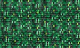 二进制编码计算机矩阵背景艺术设计 在屏幕上的数字 摘要概念图形数据,技术,解密, 皇族释放例证