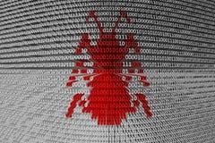 二进制编码错误或臭虫 免版税库存照片