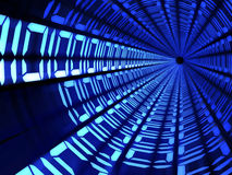 二进制编码隧道技术概念 免版税库存图片