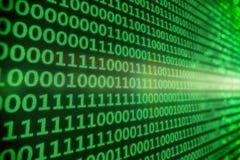 二进制编码-绿色 库存照片