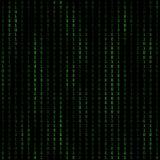 二进制编码blockchain 在解密和加密的技术算法 库存例证