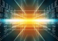 二进制蓝色和红色计算机编码 免版税库存图片