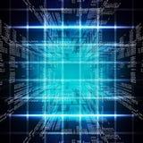 二进制蓝色计算机编码 免版税库存照片