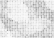 二进制计算机编码背景 免版税库存照片