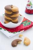 二重奏口气多福饼曲奇饼为新年 免版税图库摄影