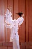 二重奏舞蹈,人举了妇女 库存图片