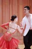 二重奏舞蹈,拉丁舞蹈 图库摄影