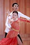 二重奏舞蹈,拉丁舞蹈 库存照片