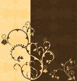 二重奏花卉口气墙纸 库存图片