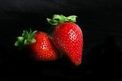 二重奏草莓 库存图片