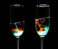 二重奏远期玻璃 库存照片