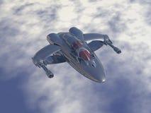 二重引擎多架角色战机和低轨道拦截机 免版税库存照片