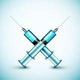 二医疗注射器 免版税图库摄影