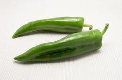 二绿色甜椒 免版税图库摄影