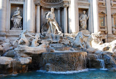 二fontana喷泉罗马罗马trevi 库存照片