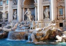 二fontana喷泉罗马罗马trevi 免版税库存照片