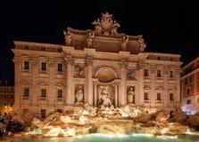 二fontana意大利罗马trevi 库存照片