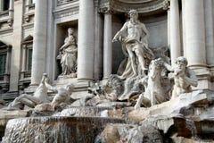 二fontana罗马trevi 免版税库存照片