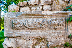 建于4世纪的保持罗马别墅rustica 图库摄影