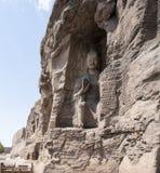 云冈在山西02的洞穴图片 免版税库存照片
