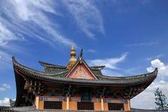 云南大理龙城市西式大厦 免版税库存图片