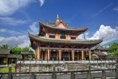 云南大理龙城市西式大厦 免版税库存照片