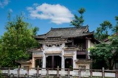 云南大理龙城市西式大厦 免版税图库摄影