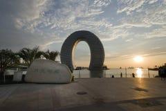 云南,中国,泸沽湖风景 免版税库存图片
