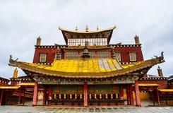 云南Songzanlin喇嘛寺院  免版税库存图片